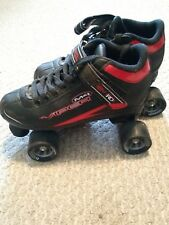 Roller Derby M4 Viper Roller Skates Indoor/Outdoor Mens Sz 7 Black/Red
