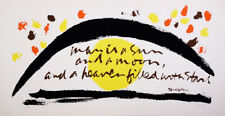 Rare Sister Mary Corita Kent Hand Signed Serigraph Quote by Paracelsus