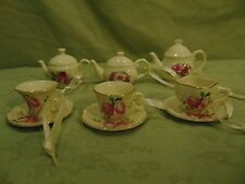 Lot Of 6 Tea Pot And Cup And Saucer Ornaments