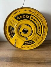 Vintage Esco Qwik Way Smooth Galvanized Electric Fence Wire