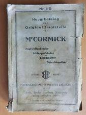 Hauptkatalog IHC McCormick Getreidemaschinen ca. 1940! Schlepper-Binder Mäher ..