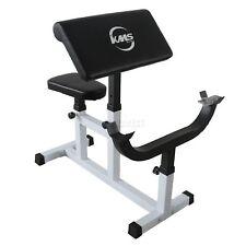Heavy Duty Steel Preacher Arm Curl Weight Bench Bicep Gym Equipment Barbell Rack
