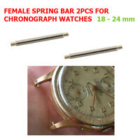 Female Spring Bar for Vintage 18k Chronograph Gold Watch 18-24 mm Negative 2pcs