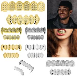 Cool Gold Grillz 24k Plated Teeth Mouth Grills Bling Hip Hop Gangsta Gangster UK