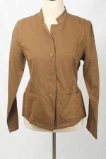 Eileen Fisher Size S Hazelnut Stand Collar Jacket NWT 2832 T517