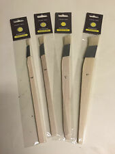 Hamilton Prestige 4pce inclinada en ángulo Forro herramienta Fitch Fino Paint Brush Set