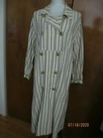 Free People Women's Sweet Melody Stripe Trench Coat Duster Xsmall (fits medium)