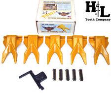 230TT7-5 H&L DeltaWing® Twin Tiger Bucket Teeth (5 Pack Kit) + Flexpins®, 230TT7