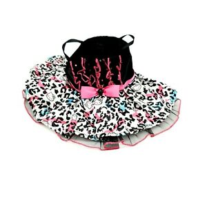 Build A Bear Hello Kitty Dance Dress Outfit Pink Black Gems Clean Clothes Toy