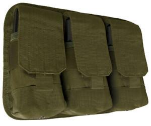 Olive Drab OD Military Rifle NATO Ammo Modular MOLLE Triple Magazine Pouch