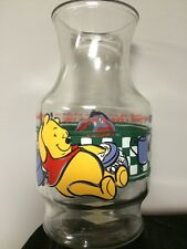 Anchor Hocking Vintage Winnie The Pooh Cooking Glass Carafe Pitcher Juice Jar