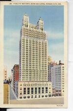 fidelity national bank building  kansas city mo postcard 1940s era