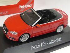 1/43 Herpa AUDI a3 Cabrio BRILLANTROT 070805 prezzo speciale 14,99 anziché 34,95 €