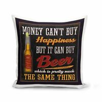 Housse de Coussin 40x40 cm L'argent peut acheter de la Bière