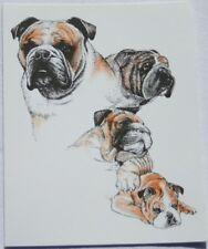 Bulldog Dog Laura Rogers Pet Notes Notecard Set of 10