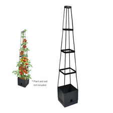 Plant Tower Tomato Planter Grow Support Climbing Vine 4-tier