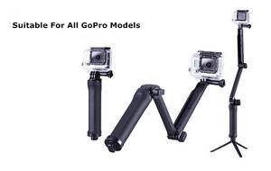 3 Way Hand Grip Arm Stick Tripod Mount Monopod for GoPro Hero3+4 5 7 SJ5000/4000