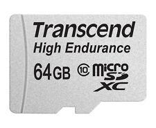64 Go Carte Micro SDHC Transcend Haute Endurance CL10 avec Adaptateur SD