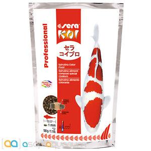 sera Koi Professional Spirulina Color Food 500 grams 1mm Pellets Koi Fish Food