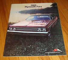 Original 1969 Plymouth Fury Deluxe Sales Brochure Sport Wagon VIP
