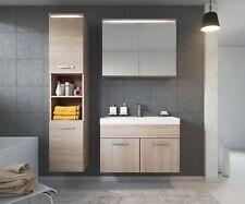 Meubles de salle de bain beige en bois, salle de bain ...
