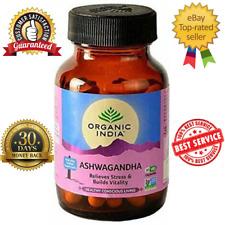 Organic India Ashwagandha Root Powder Capsules   400mg (Withania Somnifera)