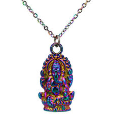 Rainbow Color Hindu Animals Elephant God Religious Necklace