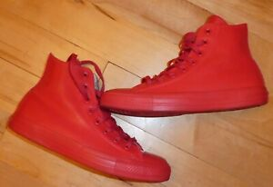 Converse Hi FF Red Rubber Boots. 7UK