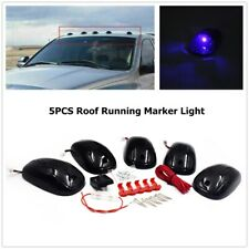 5x 9LED Cab Roof Top Marker Lights Replace for Dodge Ram Smoked Lens/Blue Light