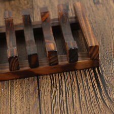 Wooden Kitchen Sponge Plate Soap Holder Shower Dish Storage Rack CY2Z