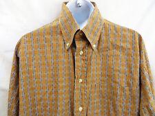 BURBERRY London Mens Nova Check Textured Long Sleeve Button Up Dress Shirt L