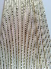5M 3mm Thin White Satin Ribbon Gold Trim Card Making Scrapbooking Home Decor Art