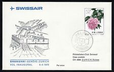 CHINA  1964 -  Peonies  52f  on First fligh Cover ( Shanghai -Geneve- Zurich )