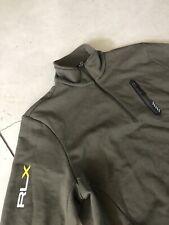 Mens RLX Ralph Lauren X-Large 1/2 Zip Sweater Army Camo Green RRL VTG Polo Sport