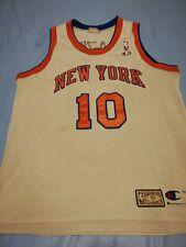 MAILLOT NBA HARDWOOD CLASSICS VINTAGE NEW YORK 10 FRAZIER T. L CHAMPION USA