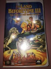 The Land Before Time III  The Time of the Great Giving VHS TESTED