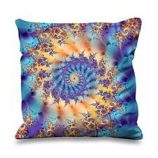 Fractal Faux Silk 45cm x 45cm Sofa Cushion - Abstract Art