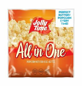 JOLLY TIME All in One Kit for 8 oz. Popcorn Machine   10.5 Ounce (Pack of 24)