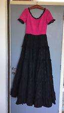 Markenlos Damen Kleid Abendkleid Elegant Schwarz Pink Vintage M