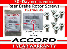 1985- 2018 Honda Accord Rear Brake Rotor Screw Set of 8 GENUINE 93600-06014-0H