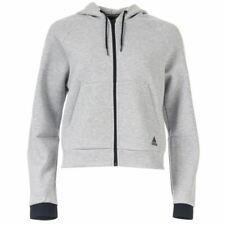 Женские Adidas должно имущих полная молнией свободного покроя с капюшоном толстовка в серый