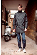 Armadillo Scooterwear Alex Trench Mens Motorcycle Scooter Jacket NEW - Black Lar