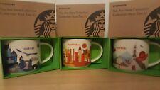 Starbucks MONTREAL ,QUEBEC AND CANADA MUGS NWT (3MUGS) NWT