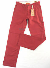 DOCKERS Chino Broken in Khaki W31 L32 Slim Fit Brik Red Dunkelrot Straight Neu