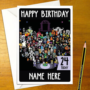 UNDERTALE Personalised Birthday Card - frisk toriel name personalized undertail