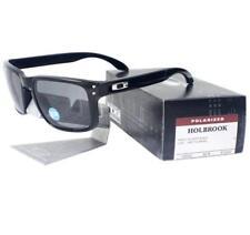 Oakley OO 9102-02 POLARIZED HOLBROOK Polished Black Grey Mens Sports Sunglasses