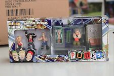 Tattoo Shop Diorama set includes 4 figures + 12 additional Loose Punk figures
