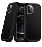 For iPhone 11/12 Pro Max Hybrid Kickstand Cover Heavy Duty Armor Case +Belt Clip