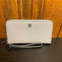 Tory Burch Parker Continental Zip Leather Wallet - Dust Storm