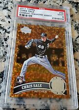 CHRIS SALE 2011 Topps Diamond COGNAC SP Rookie Card RC PSA 9 MINT Boston Red Sox